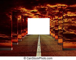illusie, straat