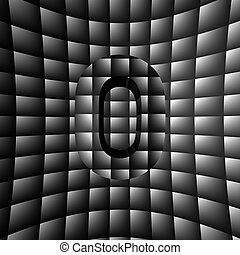 Illusion ABC - 3D Illustration of ABC Character on Illusion...