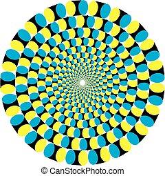 illusion., illustrazione, vettore