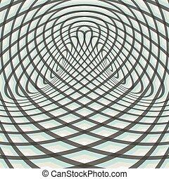 illusion., model, optisch, abstract, achtergrond., kolken