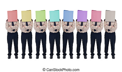 Illusion of choice - fake diversity concept - Cardboard box ...