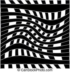 illusion optique, fond