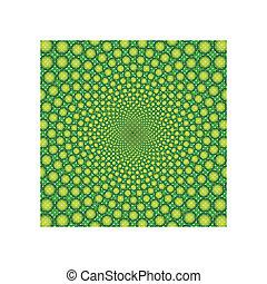 illusion-vector, óptico, eps, cyclic