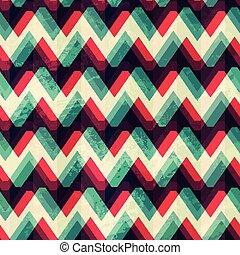 illusion zigzag seamless pattern