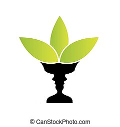 illusione, facce, due, vaso