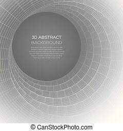 illusions., abstratos, realidade virtual, óptico, graphics., 3d