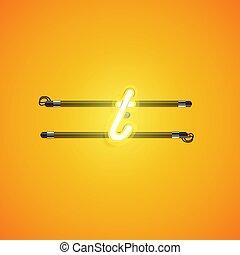 illustartion, 特徴, 黄色, ネオン, ベクトル