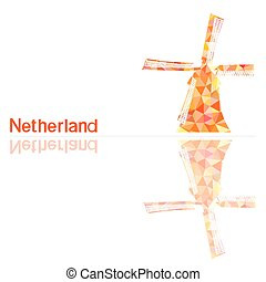 illustra, netherlands, ベクトル, シンボル
