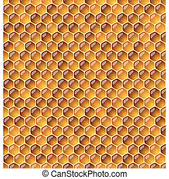 illustraion., honeycomb., seamless