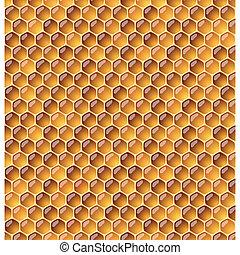illustraion., seamless, honeycomb.
