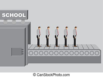 illustraiton, 학교, 은 생성한다, 만화, 동종의, titled, 제품, 기계, 벡터