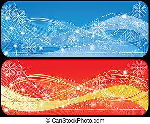 Two christmas banner - Illustraiton of Two christmas banner