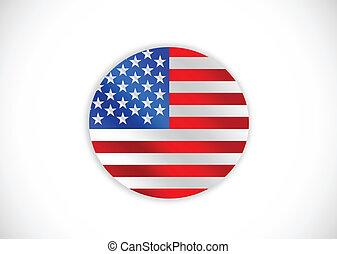 illustrat, americano, vetorial, bandeira, idéia