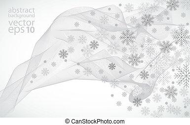 illustrat, vecteur, hiver, fond