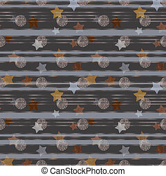 Illustrated abstract grunge background with stripes and stars