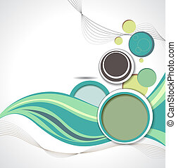 Illustrated colorful layout with abstraction. Magazine cover...