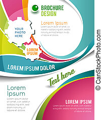 Magazine cover, business brochure template - Illustrated ...