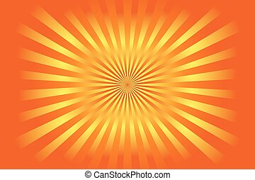 Colourful rising sun style background - Illustrated...