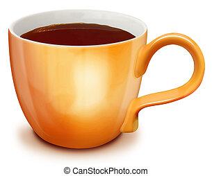 Illustrated Cup of Dark Tea