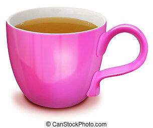 Illustrated Cup of Light Tea