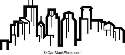 Illustrated depiction of the Minneapolis Skyline.