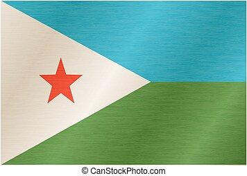 Illustrated flag of Djibouti