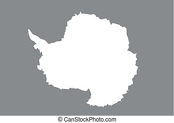 Illustrated grayscale flag of the country of Antartica - An...