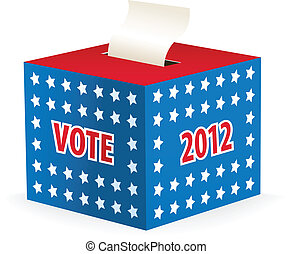 illustrated image of a ballot box - Digitally generated...
