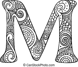 Illustrated letter M