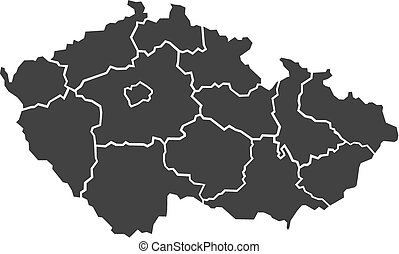 Illustrated map of Czech Republic