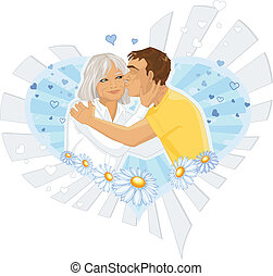 Illustrated mother and son