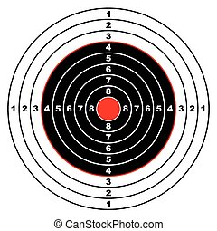 rifle target - Illustrated rifle target with black sections ...