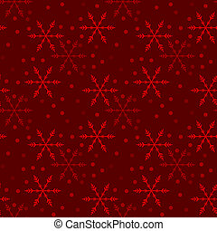 Illustrated seamless christmas background with snowflakes