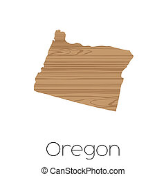 An Illustrated Shape of the State of Alabama Oregon