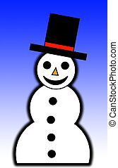 Illustrated Snowman - A illustrated happy snowman for ...