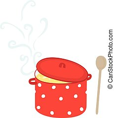 Illustrated soup pot