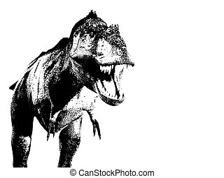 Illustrated T Rex
