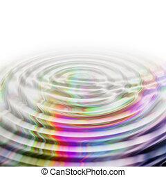 Illustrated wave background design