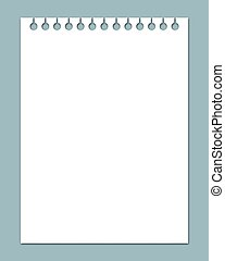 notepad - Illustrated white notepad page with slight drop...