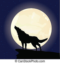 illustrated wolf