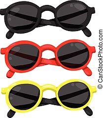 illustrateur, lunettes soleil