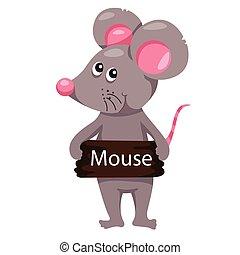 illustrateur, souris, animal