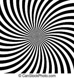 illustratie, achtergrond., vector, black , hypnotic, witte