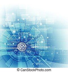 illustratie, achtergrond, vector, digitale technologie, futuristisch