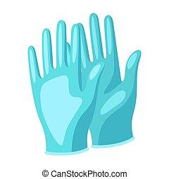 illustratie, beschermend, medisch, gloves.