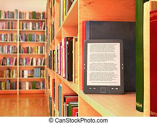 illustratie, boek, tafel, 3d, winkel, e-boeken