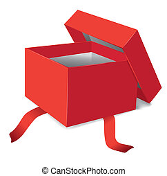 illustratie, cadeau, vector, geopend, doosje