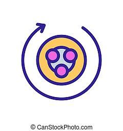illustratie, circulaire, hand, beeldhouwer, massagers, ...