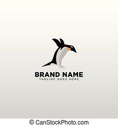illustratie, element, vector, ontwerp, mal, logo, penguin, pictogram