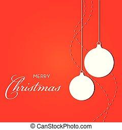 illustratie, gelul, kerstmis, vector, decorations., ornaments.